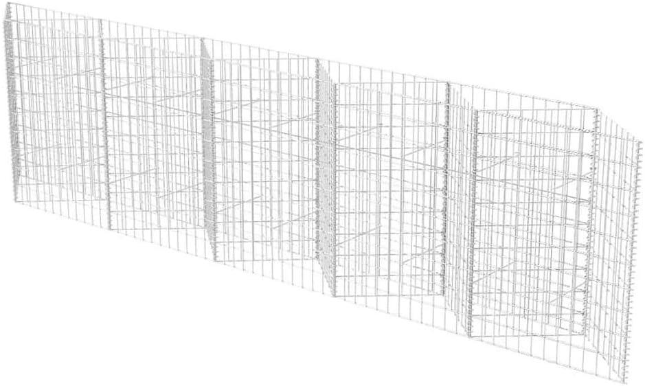 vidaXL Jardinera Arriate de Gaviones Rectangular Acero Galvanizado 300x30x100