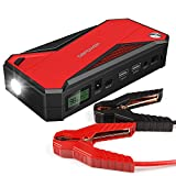 Automotive Battery Charger Jump Starter Best Deals - DBPOWER 600A Peak 18000mAh Portable Car Jump Starter (up to 6.5L Gas, 5.2L Diesel Engine) Battery Booster and Phone Charger with Smart Charging Port