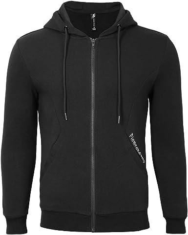 FiereMen Outwear Solid Color Hood Zip-up Long Sleeve Sweatshirts