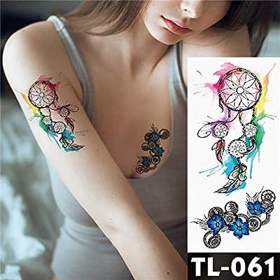 tatuajes pegatinas rosa oscuro flores brazo hombro tatuaje ...