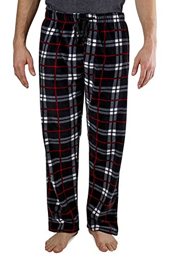 Men's Yarndyed Super Soft Polar Fleece Pajama Bottom Lounge Pants - Large - Black Red & Charcoal - Shield Fleece Pant