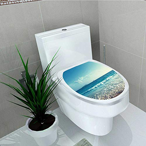 Full Set Chicago Sheet Bears (Philip C. Williams Decal Wall Art Decor Sunset on Seychelles Holiday Shore Dreamy Bathroom Creative Toilet Cover Stickers W6 x L8)