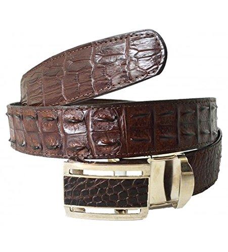 Hornback Crocodile Belt (Authentic Sefaro Crocodile Skin Men's Double Rows Backbone Hornback 38