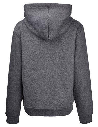 ZLYC - Sudadera con capucha - Manga Larga - para mujer Gark Grey