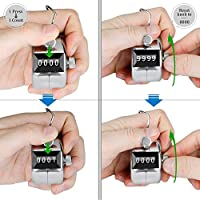 4 Digit Manual Hand Tally Mechanical Palm Click Counter Round Base /_DM