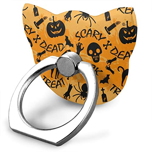 Popular Customized Finger Ring Stand Happy Halloween Trick Or Treat 360°Rotation Cell Phone Ring Stand Holder Grip Universal Smartphone -