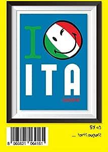Tarjeta Felicitación cumpleaños Emoticon Emoji I Love Italia ...