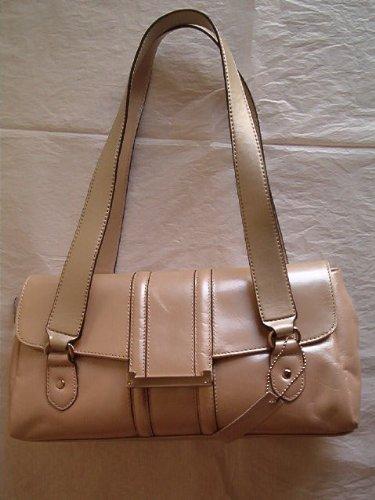 Apt. 9 Rossi Leather Satchel Handbag, Platinum