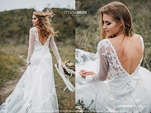 Aurora Macrame Boho Wedding Mermaid Dress Amazon Com