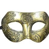 Rosennie Halloween Mask,Halloween Decorations Cosplay Costume Props Party Retro Venetian Masks Facial Masquerade (Gold Mask)