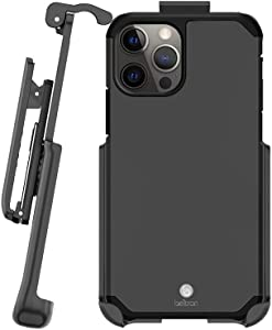 BELTRON Case with Belt Clip for iPhone 12, iPhone 12 Pro, Slim Full Protection Heavy Duty Hybrid Case & Rotating Belt Clip Holster w/Built in Kickstand for iPhone 12, iPhone 12 Pro 6.1 (Gunmetal Grey)