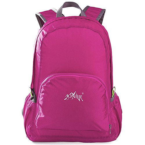 AoMagic Outdoor Packable Handy Water Resistant Lightweight Backpack Pink