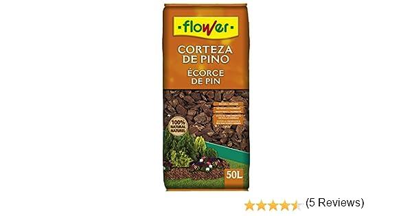Flower - Corteza de Pino 50l: Amazon.es: Jardín