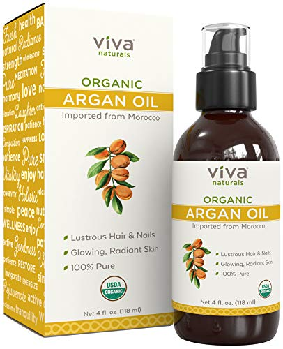 Viva Naturals Organic Argan Oil 4 oz - 100% Pure & Cold