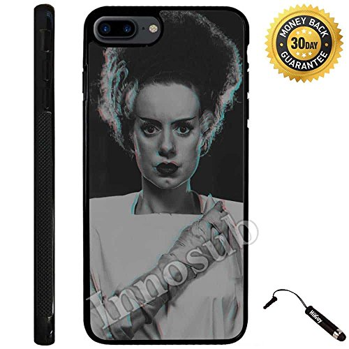 Custom iPhone 7 PLUS Case (Bride of Frankenstein) Edge-to-Edge Rubber Black Cover with Shock and Scratch Protection | Lightweight, Ultra-Slim | Includes Stylus Pen by Innosub