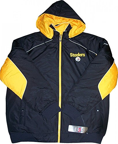 Pittsburgh Steelers Reebok NFL Black/Gold Hooded Full-Zip Winter Jacket - Small ()