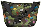 iscream 'Crazy Camo' Neoprene Overnight 20'' x 13'' x 7'' Travel Tote Bag with Adjustable Strap