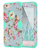 iPhone 6 Case, iPhone 6s Case Flower, TOPSKY [Love Flower Series] Three Layer Heavy Duty Armor Defender High Impact Resistant Hybrid Protective Cover Case For iPhone 6/6s (Only For 4.7