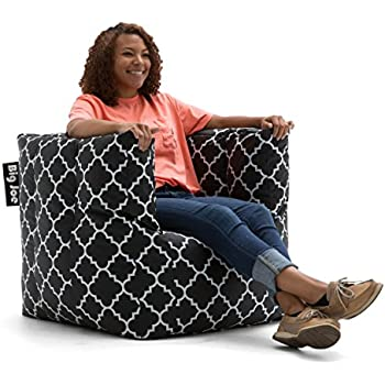 Big Joe Cube Quatrafoil Printed Smartmax Chair Black