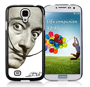 Fashion And Unique Samsung Galaxy S4 I9500 Case Designed With dali mustache Black Samsung S4 Cover