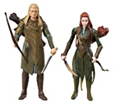 The Bridge Direct Hobbit 3.75' Adventure: Legolas and Tauriel - Wave 1, Pack of 2