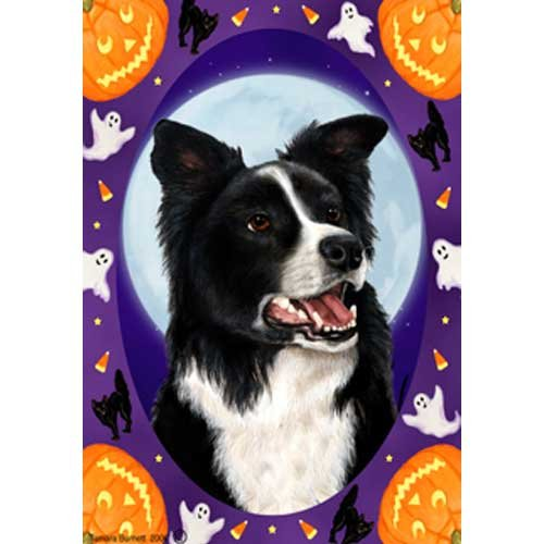 Best of Breed Halloween Howls Garden Size Flag Border Collie