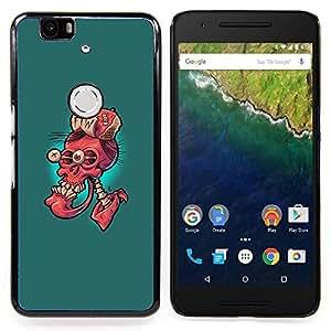 - Ftw Red Skull - Funny - - Cubierta del caso de impacto con el patr??n Art Designs FOR Huawei Nexus 6P Queen Pattern