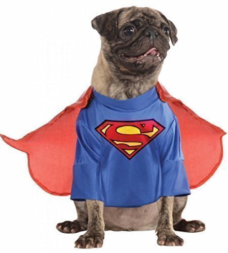Animal Pet Dog Superman Clothing Superhero Christmas Gift Halloween Party Fancy Dress Costume Outfit (Extra Large) from Fancy Me