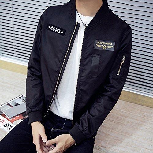la chaqueta marea de sexo el masculino de hombres marca los de de uniforme uniforme negra casual Chaqueta de chaqueta hombres XXL wU1q4Onx