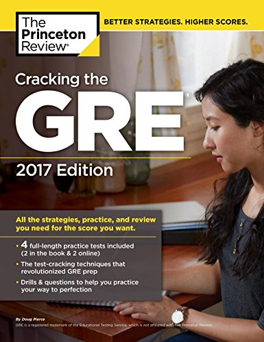 Princeton Review Cracking the GRE with 4 Practice Tests, 2017 Edition (Graduate School Test image