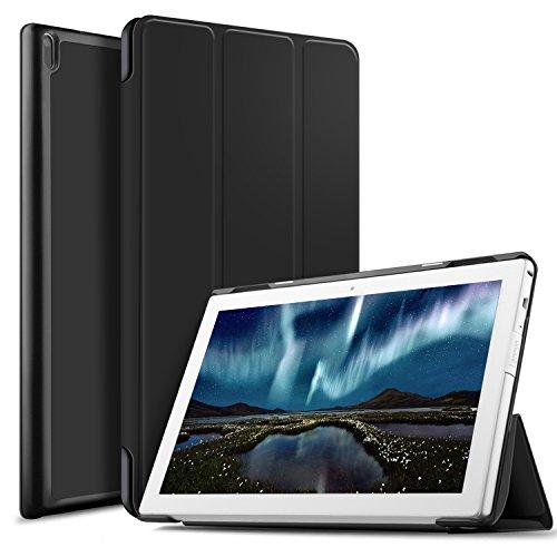 IVSO Case for Lenovo TAB 4 10, Lenovo TAB 4 10 Case - Ultra Lightweight Slim Smart Cover Case Stand for Lenovo TAB 4 10 Tablet (Black)