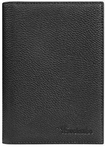 Travelambo RFID Blocking Leather Passport Holder Cover Case Travel Wallet Elastic Strap