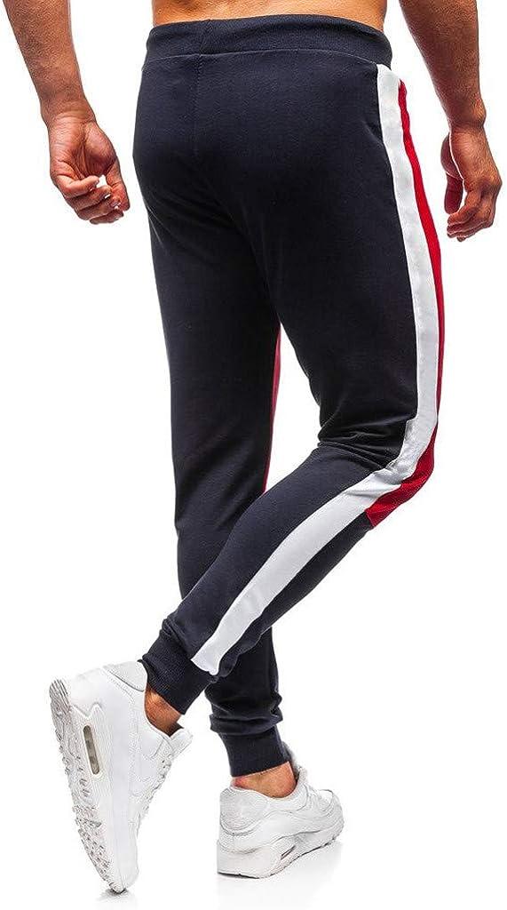Amazon.com: baskuwish Mens Gym Jogger Pants Slim Fit ...