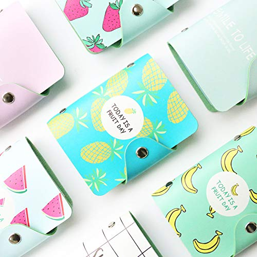 Himpokejg Fashion Letter Fruit Printed Anti-degaussing Card Holder Bag Case Girls Gift-1# by Himpokejg (Image #1)