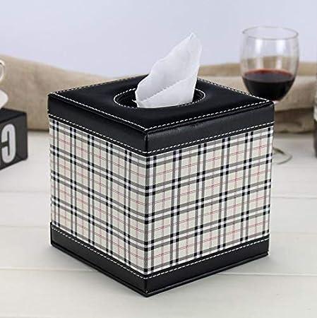 001PU tejido caja de almacenamiento caja servilleta cartón papel tubo papel tubo toalla papel de la mesa de comedor lindo sala de café servilleta de la bandeja casera de la creatividad Europea,C: