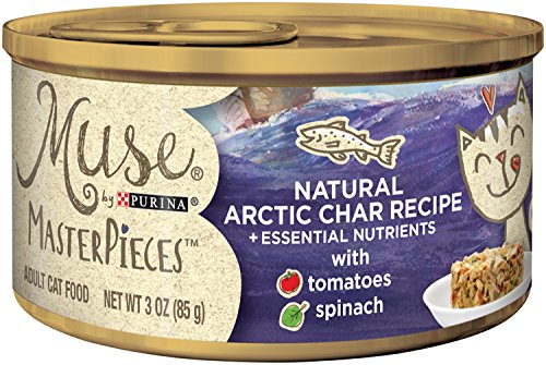 Muse by Purina Masterpieces Natural Wet Cat Food - (24) 3 oz. Cans, Arctic Char Recipe
