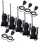 Retevis RT1 10W Two Way Radios Long Range UHF 70CM 400-520 MHz 16CH VOX Scrambler Ham radio and Speaker Mic (5 Pack)