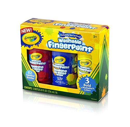 Crayola 8 Ounce Primary Washable Fingerpaint
