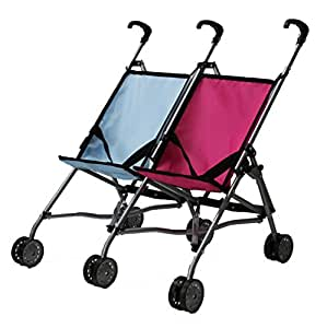 Amazon.com: Mommy & Me Twin Doll Stroller for 1 Boy Doll ...