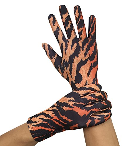 Seeksmile Adult Lycra Spandex Gloves (Free Size, Tiger)
