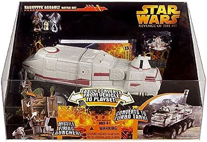 Amazon Com Star Wars E3 Revenge Of The Sith Vehicle Kashyyyk Assault Battle Set Toys Games