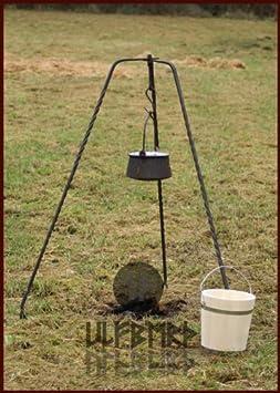Ulfberth - Soporte trípode para parrilla o cazuela (forjado a mano, 155 cm)