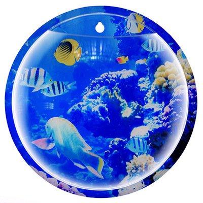 Montar vaso jarrón, CONMING montado en la pared Fish Tank Bubble Bowl colgando maceta planta