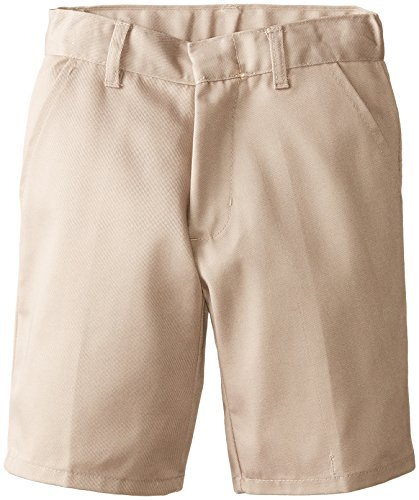 (6114) Genuine School Uniforms Boys Pleated Front Short (Sizes 4-16) in Khaki Size: 7
