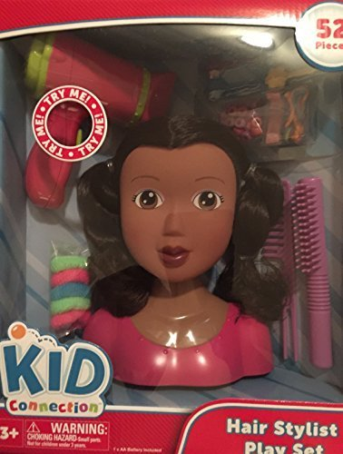 Kid Connection Hair Stylist Play Set Styling Doll Head - ...