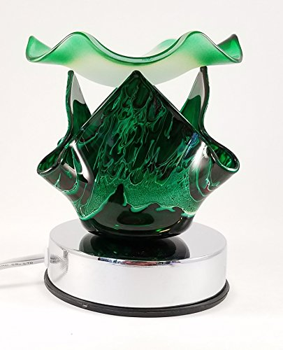 Decorative Touch Sensitive Electric Glass Lamp Aromatherapy Oil Burner 310-Green (Touch Aroma Lamp compare prices)