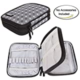 Damero Crochet Hook Case, Organizer Zipper Bag with Web Pockets for Various Crochet Needles and Knitting Accessories, Well Made, Small Volume and Easy to Carry, Gray Dots (No Accessories Included)