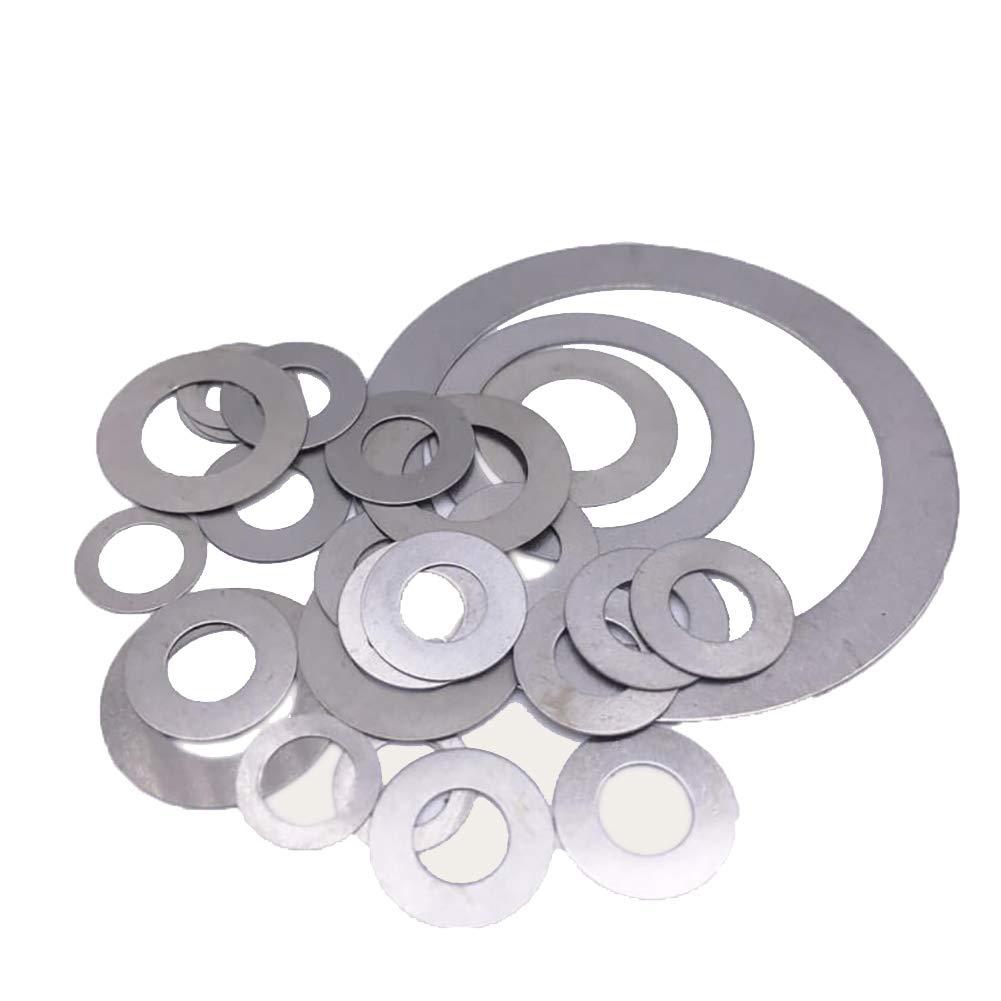 Wkooa Shim Washers Stainless Steel Ultrathin Gasket Thin Flat Washer - 12x20x0.3