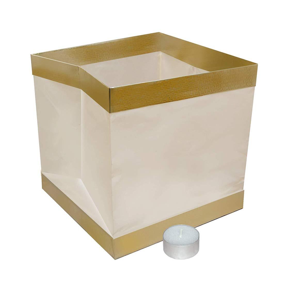 HomeABC Water Floating Candle Wish Lanterns,Set of 20