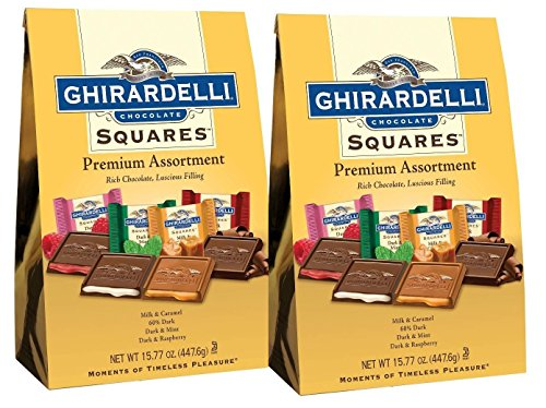 (Ghirardelli SQUARES Premium Assortment Gold, 15.77 oounce (Pack of 2))